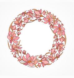 wreath in pink vector image