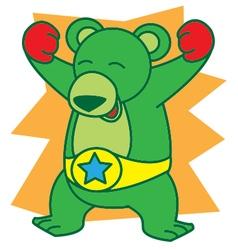 Bear Boxing vector image