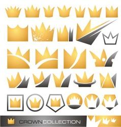 Crown symbol and icon set vector image vector image