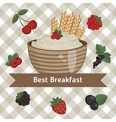 Healthy breakfast concept vector image vector image