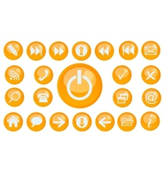 icon set for web vector image vector image
