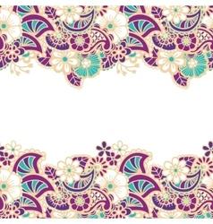 Mehndi horizontal backrtound vector image vector image