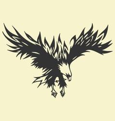 Eagle tattoo vector
