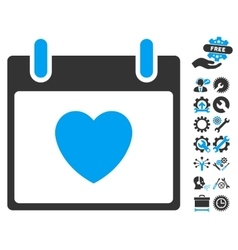Favourite heart calendar day icon with vector