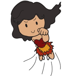 female super hero vector image