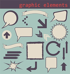 graphic elements set vector image vector image