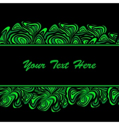 green black border vector image vector image