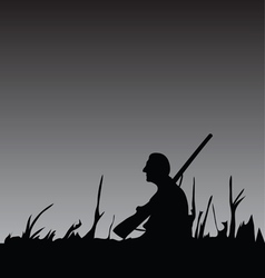 Hunter in the night vector