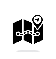 Map icon on white background vector image vector image