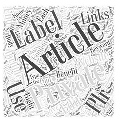 Private Label Articles Benefits Of Why You Should vector image vector image