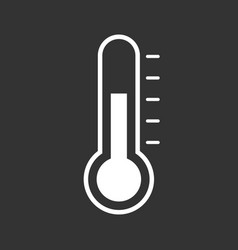 thermometer icon goal flat isolated on black vector image