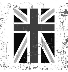 British flag vertical gray vector image