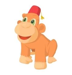 Circus monkey icon cartoon style vector image