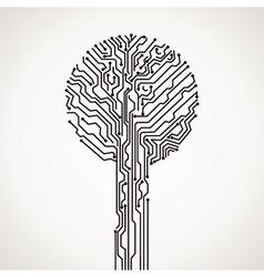creative electronic tree vector image