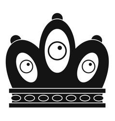 queen crown icon simple style vector image vector image