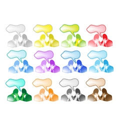 A Colorful Set of People Talk vector image