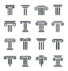 black column icons vector image