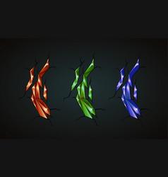 gems polygonal minerals set vector image vector image