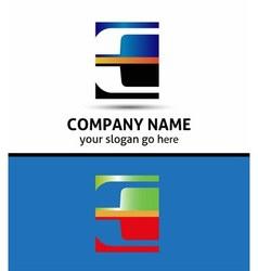 Letter e logo symbol vector