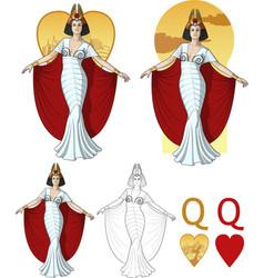 Queen of hearts actress Mafia card set vector image vector image