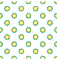Sun in sky pattern cartoon style vector