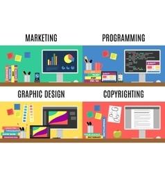 Various workspaces vector image