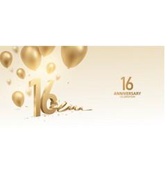 16th anniversary celebration background vector
