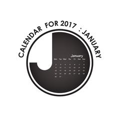 2017 calendar design stationery template vector image