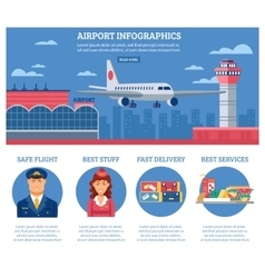 Airport Infographics Design Template vector