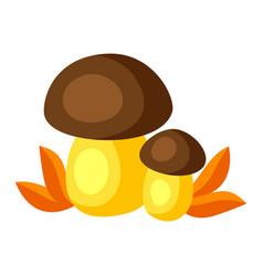 Autumn mushrooms pair vector