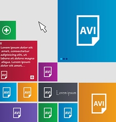 AVI Icon sign buttons Modern interface website vector image