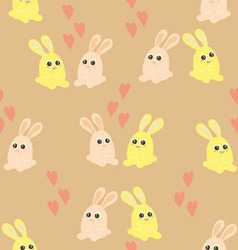 Background of the couples of hares vector image