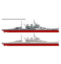 Battlecruiser of the royal navy vector