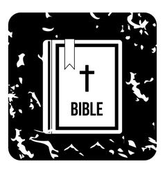 Bible icon grunge style vector