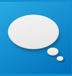 blank paper speech bubble on background vector image
