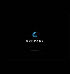 blue modern 3d initial letter c logo design vector image