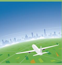bologna skyline flight destination vector image