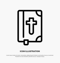 Book bible easter holiday line icon vector