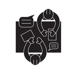 business workshop black concept icon vector image