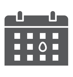 calendar glyph icon month and day reminder sign vector image