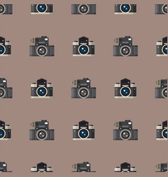 Camera photo optic lenses seamless pattern vector