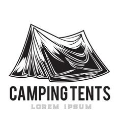 Camping vintage tent adventure outdoor logo 9 vector