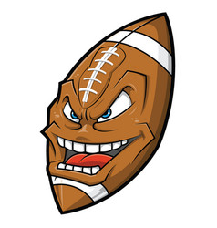 cartoon american football angry face vector image