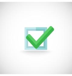 Chek mark web button icon vector image