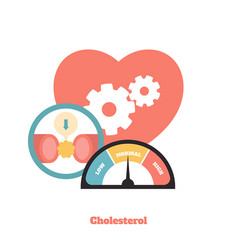 cholesterol blood pressure blood vector image