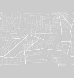 city map scheme roads city map seamless pattern vector image