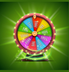 colorful fortune wheel isolated on green vector image