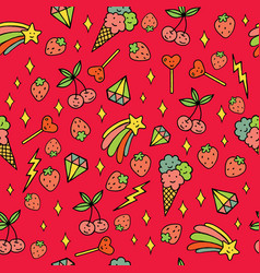 Colorful psychedelic doodle pattern with vector