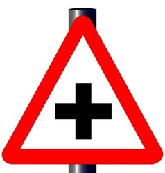 Cross Roads Traffic Sign vector