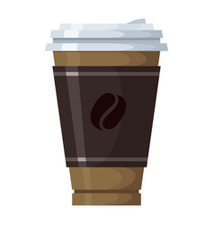 cup coffee icon morning beverage and cafe vector image